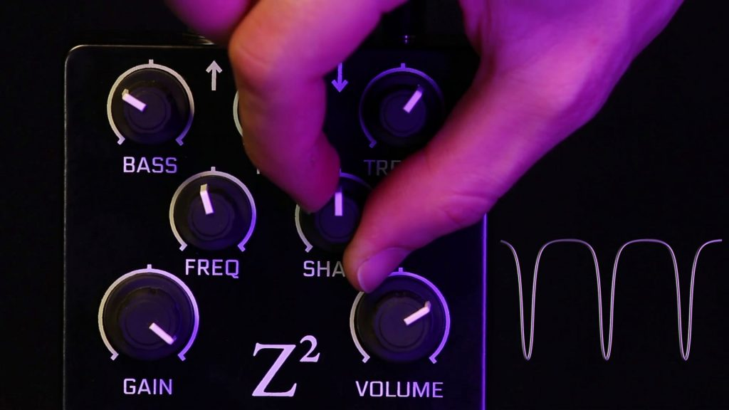 Fuzz is controlled by the Vector Drive's Shape knob